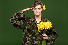 Free Military Female Royalty Free Stock Photography - 20245377
