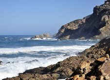Rocky Shoreline. Stock Photos