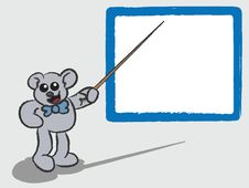 Free Cartoon Bear Teaching With Whiteboard Stock Photo - 20245890