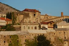 Free Buildings Lit By The Setting Sun At Mostar Royalty Free Stock Photography - 20246597