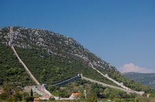 Free The Walls Of Ston, Croatia Royalty Free Stock Photography - 20246607