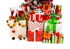 Free Stack Of Gift Boxes Stock Image - 20247411
