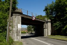 Low Railway Bridge. Royalty Free Stock Images