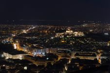 Free Night View Of The Acropolis Stock Image - 20247861