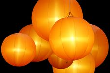 Free Warmly Colored Balloon Lamps Royalty Free Stock Photo - 20248605
