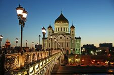 Free Night View Of The Christ The Savior Cathedral Stock Photo - 20248620