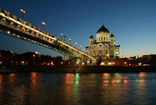 Free Night View Of The Christ The Savior Cathedral Stock Photography - 20248632