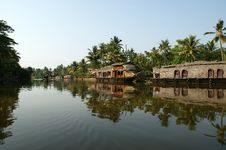 House Boat In The Kerala (India) Royalty Free Stock Photo