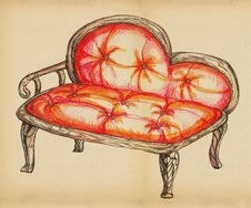Free Sofa Old Form Royalty Free Stock Images - 20249039
