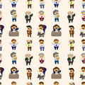 Free Cartoon Boss And Manager Seamless Pattern Stock Images - 20250184