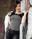 Free Girl Near The Wall Stock Photo - 20252310