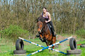 Free Equestrian - Horse Jumping Stock Image - 20252501