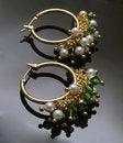 Free Handmade Earrings With Gemstones Royalty Free Stock Images - 20254129
