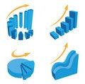 Free Vector Diagram Icons Stock Photo - 20255740