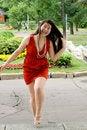 Free Girl Walking Outdoor Royalty Free Stock Photos - 20256108