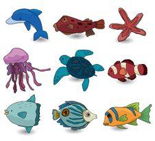 Cartoon Fish Icon Royalty Free Stock Photography