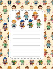 Free Cartoon Kid Card Stock Image - 20250181