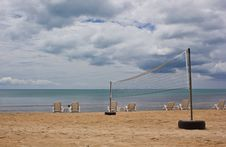 Free Volleyball Net On Beach Stock Photo - 20250310
