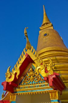 Golden Pagoda Koh Samui Stock Photo