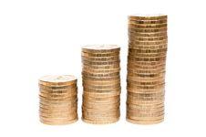 Free Three Columns Of Coins Royalty Free Stock Photos - 20251238