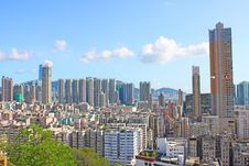 Free Hong Kong Downtown With Crowded Buildings Stock Photo - 20251300