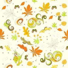 Free Autumn Seamless Background Royalty Free Stock Images - 20251379