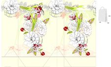 Template For Bag With Flowers Stock Photography