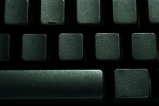 Free Black Blank Keyboard Royalty Free Stock Images - 20251759