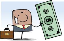 Free Hispanic Businessman Holding Cash Royalty Free Stock Photography - 20251787