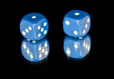 Free 1 Double Dice Royalty Free Stock Photography - 20251797