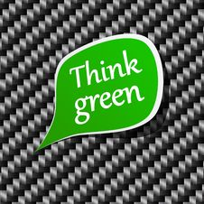 Free Think Green Speech Announcement. Stock Photography - 20252062