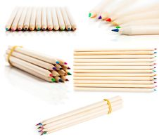 Many Colored Pencils Stock Photo