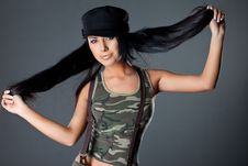 Woman In Military Uniform Stock Photos