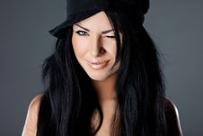 Free Woman With Hat Royalty Free Stock Photo - 20252405