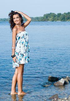 Free Woman Near The Sea Stock Photos - 20252463