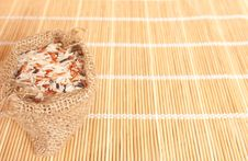 Free Raw Rice In Woven Bag Stock Photos - 20252473