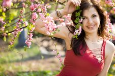 Free Woman In Garden Royalty Free Stock Image - 20252526