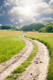 Free Road On Green Meadow Stock Photography - 20253042
