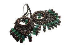 Free Handmade Earrings With Gemstones In Gipsy Style Stock Images - 20253454