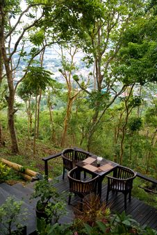 Free Terrace Cafe In Tropics Royalty Free Stock Images - 20253899