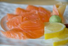 Free Salmon Sashimi Close-up Royalty Free Stock Photo - 20253905