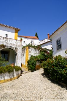 Obidos Village In Portugal Royalty Free Stock Photos