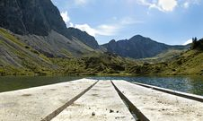 Free Lake In The Alps Stock Images - 20254414