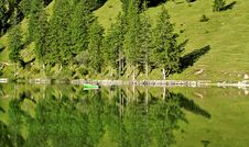 Free Lake In The Alps Royalty Free Stock Images - 20254419