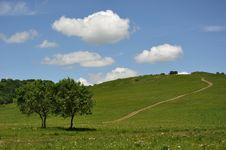 Free Clouds Over Grasslands Stock Photography - 20254562