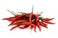 Free Red Chili Peppers Royalty Free Stock Photography - 20254677