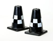 Free Black Traffic Cones On White Royalty Free Stock Photo - 20254975