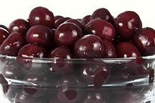 Free Cherries In Glass Plate Stock Images - 20256274
