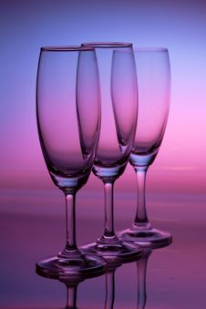 Free Champagne Glass With Rainbow Stock Photo - 20256580