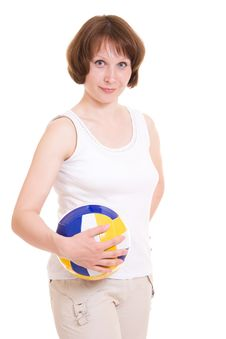 Free Volleyball Girl Royalty Free Stock Photos - 20258108